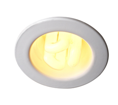 13W Fire Rated PL Downlight, C/W 4 Pin Lamp and HF Ballast (White)