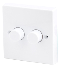 2 Gang 2 Way Dimmer Switch, 250W