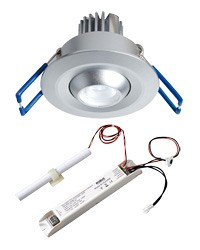 1 x 3W Non-maintained Downlight Adjustable Emergency